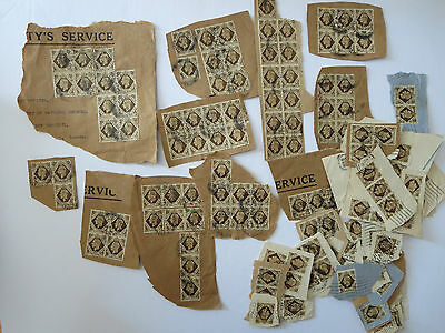 Great Britain Kg  Used Lot On Paper Of 1 Shilling Many Cancelled 1947***********