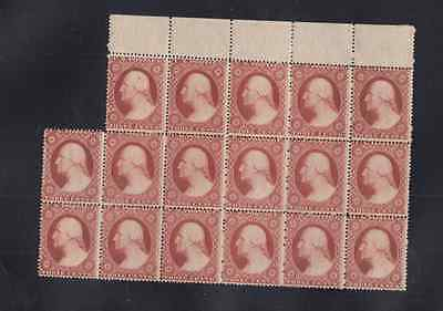 US Scott #26 3c 1857 Block of 17 stamps MINT MNH PSE certificate