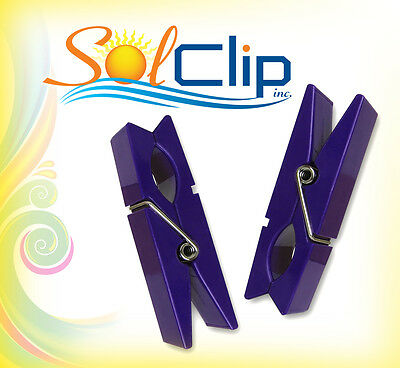 Beach towel clips or pegs - two sets package of clothespins from SolClip, Canada