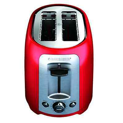 NEW BLACK+DECKER TR1278RM 2-Slice Toaster Red