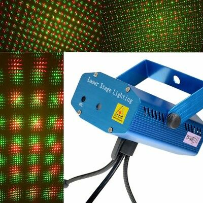 Red & Green Laser Projector DJ Disco Christmas Light Stage Party LED Lighting