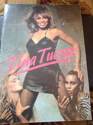 Very Rare Tina Turner Uk Tour 1984 Programme Let's Stay Together  M489