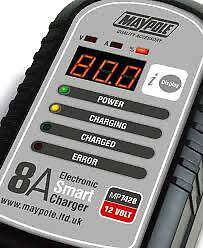 8 Amp Electronic Smart Charger 12 Volt Up To 5L Mp7428 Fast Charging