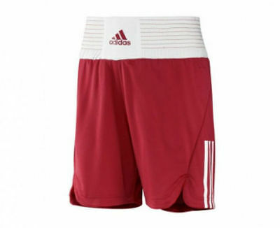 Adidas Adults Mens Boxing shorts - Red/White- Sparing Training boxercise