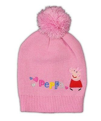 Peppa Pig Kids Beanie Pom Pom Hat One Size 2 to 6 Years