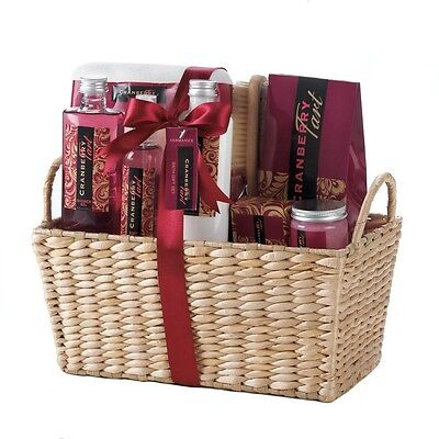 Cranberry Tart Spa Set - Bath and Body Gift Set for Her