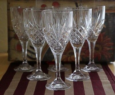 Set of 6 attractive Large Heavy Wine Glasses