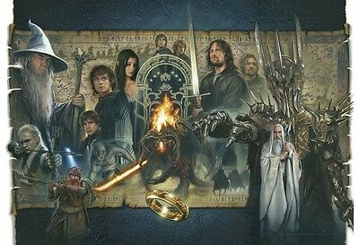 The Lord of the Rings:The Fellowship of Ring lithograph by Jerry VanderStelt