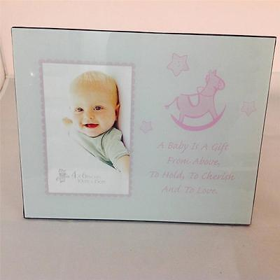 Newborn Baby Photo Picture Photo Frame Home Decor Art Present Gift Blue/Pink