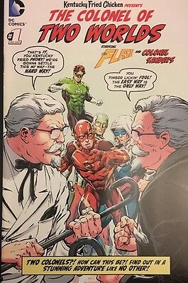 Colonel Of Two Worlds #1 Dc Comics Kfc Flash 2015 New York Comic Con Exclusive!