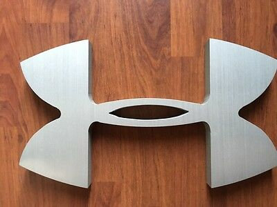 Under Armour Aluminum Novelty Collectible Logo Store Display Metal