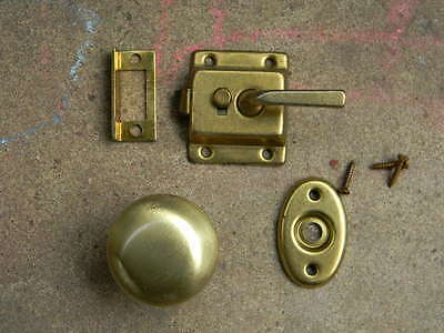 Safe Hard ware Brass Door latch old stock .