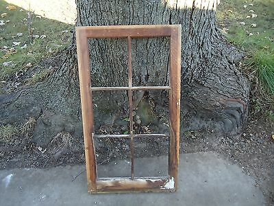 Vintage 6 Pane Window Frame, No Glass          #2