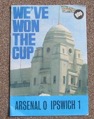 1978 FA Cup Final. Arsenal v Ipswich Town. Shows Reports/Pictures/Results etc