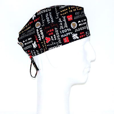 Disney Mickey Mouse on Black Theme Scrub Hat