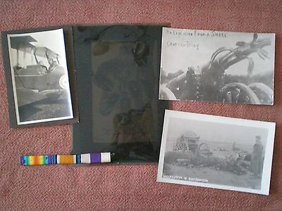 Ww1 Photograph, Postcard & Medal Military Cross Ribbon Grouping