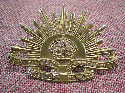 Ww2 Australian Commonwealth Military Forces Cap Badge