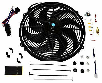 "A-TEAM 16"" Electric Curved 8 Blade Reversible Cooling Fan 3000CFM Thermostat Kit"