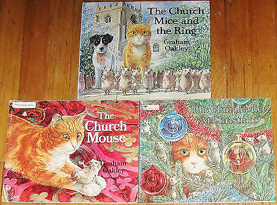 Church Mouse lot ~ Church Mice & Ring ~ Christmas ~ by Graham Oakley ~ vintage