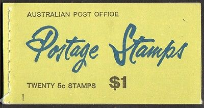 1967 AUST STAMP BOOKLET $1 QUEEN ELIZABETH ll 5c on 4c O/PRINT (POST EARLY)