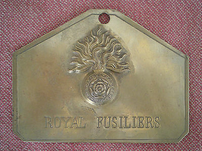 Ww2 Royal Fusiliers Brass Bed Plate