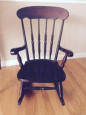 Vintage VIRGINIA HOUSE Child, Baby Doll, Solid Wood Rocking Chair / Rocker