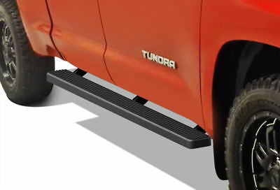 """Matte Black 4"""" iBoard Running Boards Fit 07-17 Toyota Tundra Double Cab"""