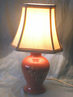 "Hand Thrown Denby Demask Table Lamp & Shade 18"" Tall Excellent Condition Gwo"