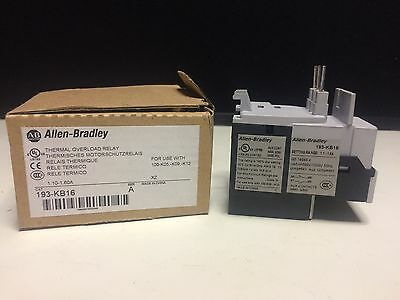 New Genuine Allen Bradley Thermal Overload Relay 193-KB16 Free Domestic Shipping