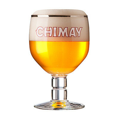 Set of 4 New Chimay Belgian Ale Chalice/Goblet Beer Glass 0.33L