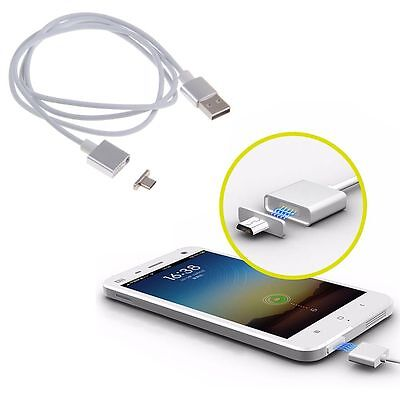 2.4A Micro USB Charging Data Cable Magnetic Adapter Charger for Samsung Huawei