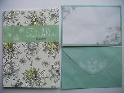 Writing Paper Note Pad Paper Set With Envelopes New Stationery Dahlia 20 Sheets