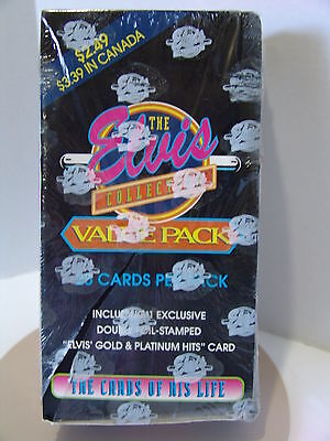 Elvis Presley Trading Cards sealed FULL BOX Life Collection Gold Platinum Hits