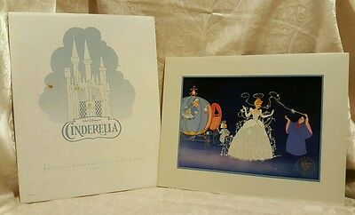 Cinderella Exclusive Commemorative Lithograph 1995 Walt Disney Fairy Godmother