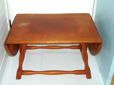 RARE Smaller DROP LEAF Coffee Table By IMPERIAL ROYALIST Rattan Co.Ltd  MAPLE
