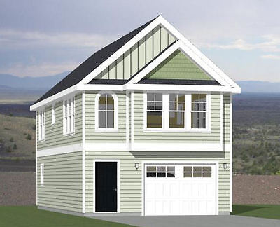 20x40 House -- 2 Bedroom 1.5 Bath -- 1,077 sq ft -- PDF Floor Plan -- Model 8A