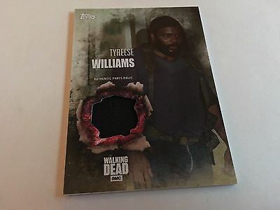 2016 Topps The Walking Dead Season 5 Shirt Relic Tyreese Williams