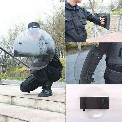 PC Round Polycarbonate Anti-Riot Shield for Police Tactical CS Campus Security