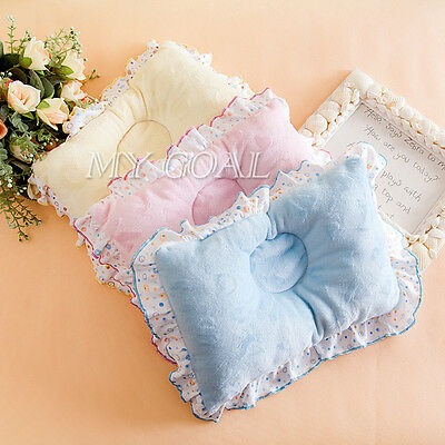Newborn Baby Infant Soft Velvet Sleep Pillow Support Cushion Anti-Flat Head UK