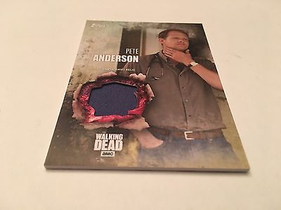 2016 Topps The Walking Dead Season 5 Shirt Relic Pete Anderson