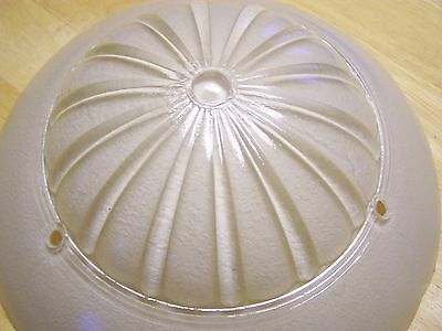 Vintage Frosted Glass Art Deco Ceiling Light Globe Shade Fixture