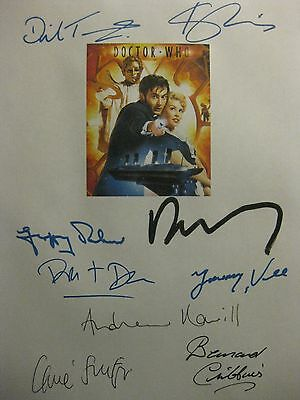 Doctor Who Voyage Signed TV Script X9 David Tennant Kylie Minogue Jimmy Vee rpnt