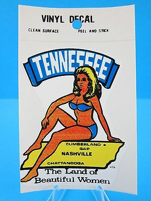 """Vintage... """"TENNESSEE STATE - NASHVILLE""""  STICKER / DECAL  (NEW OLD STOCK)"""
