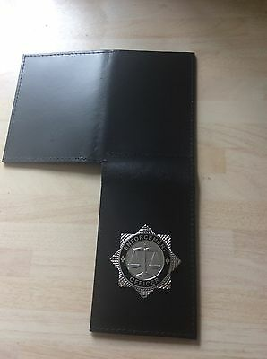 Double ID Compartment Warrant Card Wallet With Enforcement Officer Badge