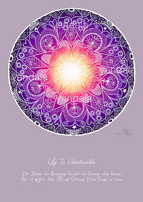 "Yogishop Yandala-poster ""life Is Unbelievable"" 30cm x 40cm NEU & OVP"