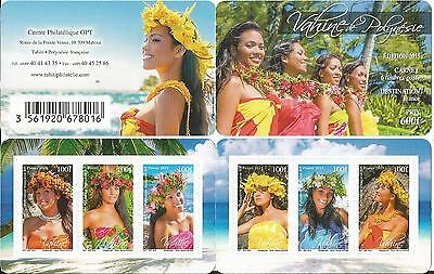 French Polynesia Vahines Reprint Of 2013 Booklet  Mnh 2015
