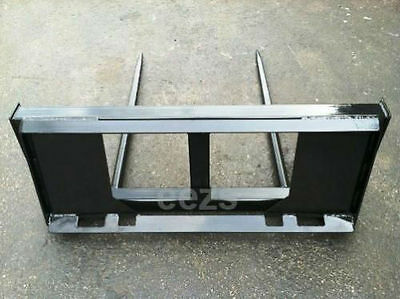 """Skid Steer Bale Spear Attachment - 2 x 39"""" Prongs -WD"""