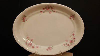 Sevres Oval Porcelain Turkey Platter Featuring Rose Bouquets 1900-1908