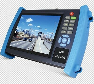 "HVT-3600S 7"" LCD CCTV Security Camera Tester Monitor HD SDI Analog 12V2A VGA POE"