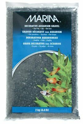 Marina Decorative Aquarium Gravel, 2 Kg, Black
